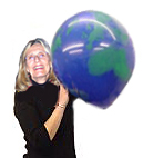 large 16 inch earth balloon