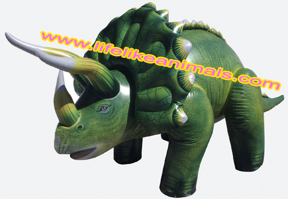 giant inflatable dinosaur triceratops