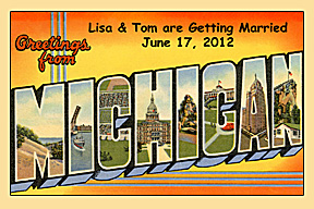 Custom Greetings from your State 1950's Style Vintage Postcards and