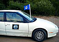 earth car flag 9x12 inch