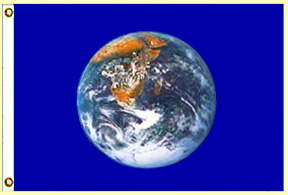 earth flag 3x5 thin polyester