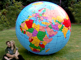 gigantic earth altas globe world balloon 7 ft