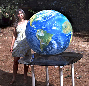 infllatable earth globe