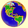 Gold Earth Lapel Pin - the Americas