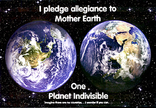 earth poster I pledge allegiance to the earth