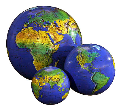 Earth Globe Topopraphical 27 inch