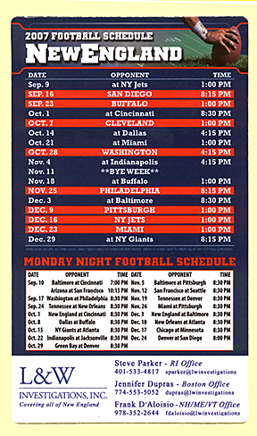 Monday Night Football Schedule