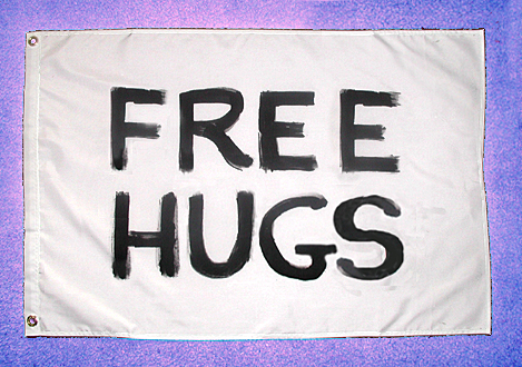 free hugs flag 2x3 ft