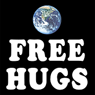 free hugs sign car magnet 12x12 inch