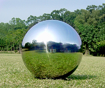 mirror gazing ball reflections