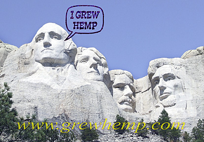 george washington grew hemp mt rushmore
