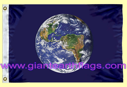 Giant Earth Flag - Planet