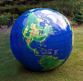 giant 66 inch map altas world globe inflatable