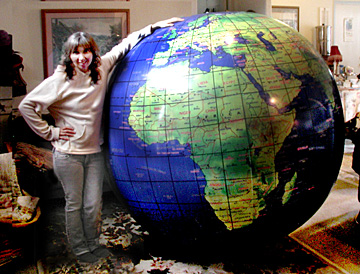 Gigantic inflatable planet earth globe balloon giant world ball giant 5 12 ft world globe gumiabroncs Gallery