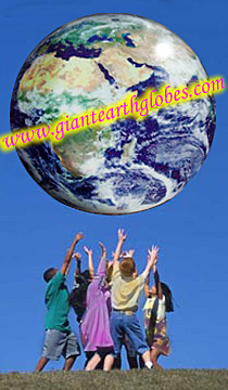 giant earth balloon globe