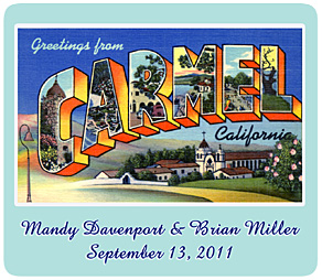 greetings from carmel california vintage image magnet