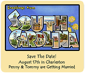 greetings from south carolina postcard vintage