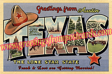 greetings from Texas vintage postcard