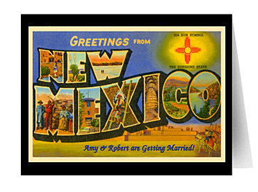 Custom greetings from your state 1950s style vintage postcards and greetings from new mexico vintage greeting card m4hsunfo