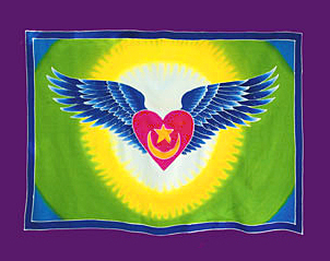 Heart Wings Banner Sufi symbol