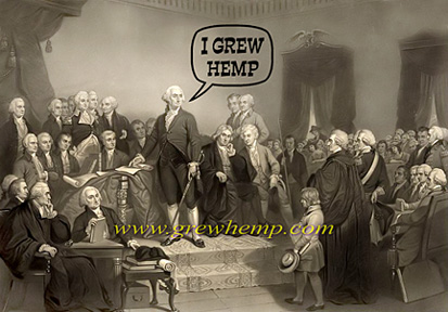 washington grew hemp - inauguration