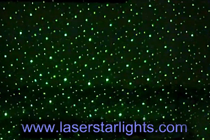 laser star lights green light show