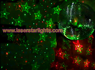 laser star lights red and green projector isco ball