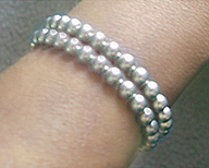 magnetic therapy neodymium double bracelet gold or silver