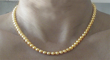 gold neodymium magnetic therapy necklace