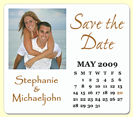 calendar magnet save the date