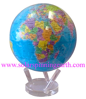 Solar spinning earth globe mova globe solar spinning earth movaglobe map world solar spinning gumiabroncs Gallery