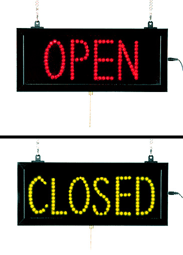 open closed sign led neon look