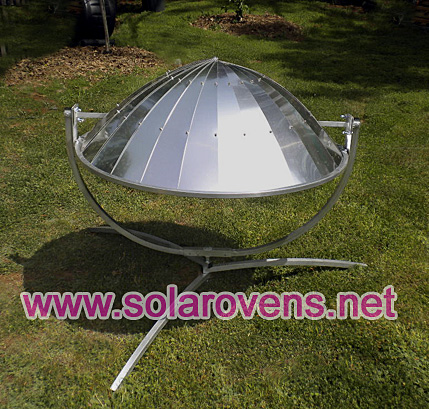 parabolic-solar-cooker face down in safety position