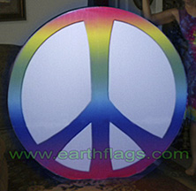 Giant Peace Sign Light - unlit