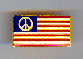 peace flag lapel pin enamel