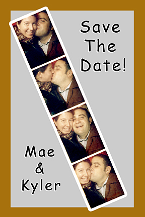 photobooth strip photo booth save the date card postcard
