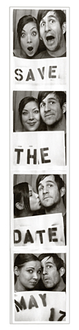 photobooth strip save the date