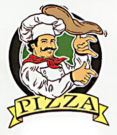 pizza static cling storefront sign