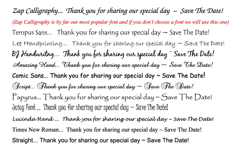 Save the date cards and photo postcards for weddings font choices for postcards and magnets m4hsunfo