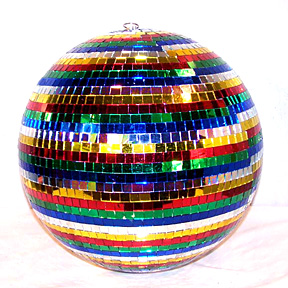 rainbow disco mirror ball