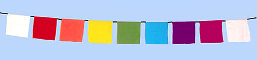 Rainbow Prayer Flags Make your Own