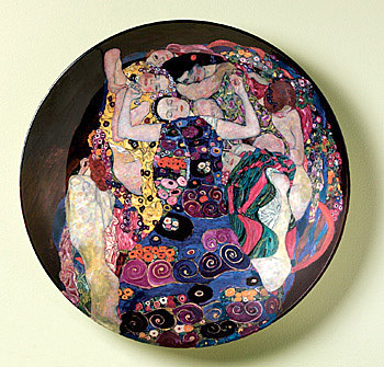 the virgin plate by klimt