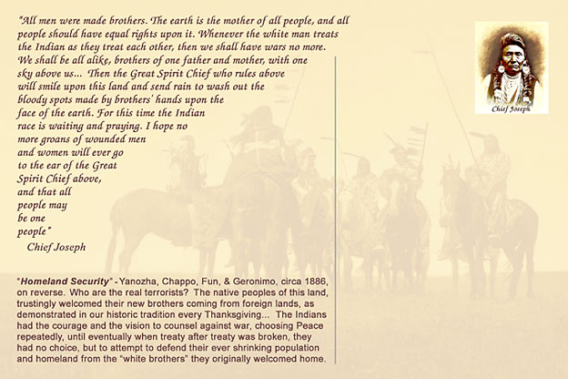 Indian Warriors and Chief Joseph Quote