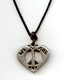 we are one peace necklace
