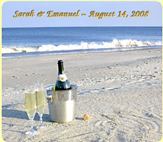 beach champagne weddiing magnet