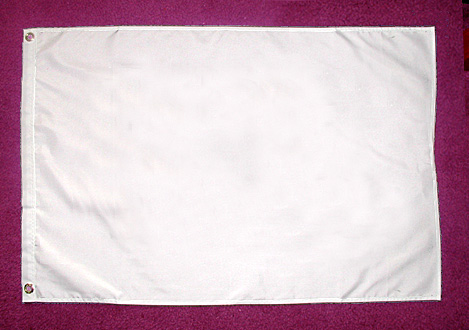 white blank flag 2x3 ft