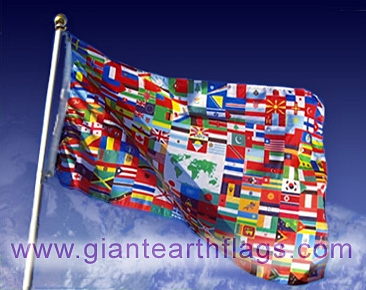 Giant World flag with all countries
