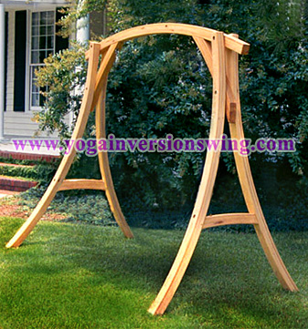 wooden cyrpess yoga swing stand